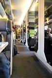 Passengers in the first class area on the Paris TGV train royalty free stock images