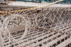 Inside of Fish Traps stock photos