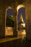 Inside the Fisherman's Bastion in Budapest Stock Image