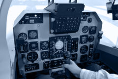 Inside the flight deck Stock Photos