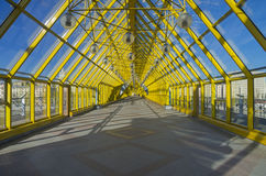 Inside a footbridge. Stock Photos
