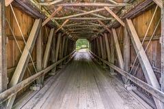 Inside Foraker Covered Bridge Stock Images