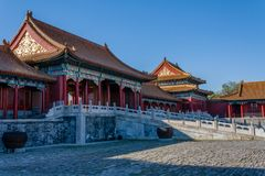 Inside the forbidden city Beijing royalty free stock photos