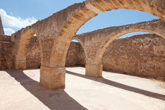 Inside the Fortezza of Rethymno city on the Crete island, Greece. Royalty Free Stock Photography
