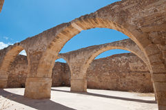Inside the Fortezza of Rethymno city, Greece. Royalty Free Stock Photography