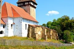 Inside the fortified medieval saxon church in the village Veseud, Zied , Transylvania,Romania Royalty Free Stock Image