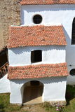 Inside the fortified, saxon, medieval church in the village Viscri, Transylvania. Royalty Free Stock Image