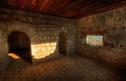 Inside the fortress Stock Photo