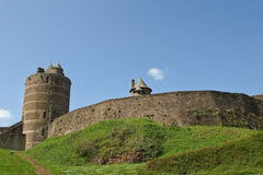 Inside fortress Fougeres. In France Royalty Free Stock Images