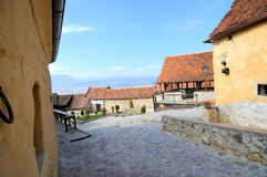Inside the fortress of Rasnov, Romania Stock Photos