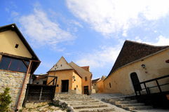 Inside the fortress of Rasnov, Romania Stock Photo