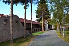 Inside the fortress of the town Targu-Mures, Romania. The first fortress in the town was erected in 1492 upon order of Transylvanian voivode Stephen Báthory stock image