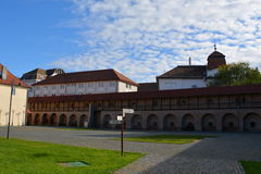 Inside the fortress in the town Targu-Mures, Romania. Targu Mures is a nice romanian town in the center of Transylvania Royalty Free Stock Photos