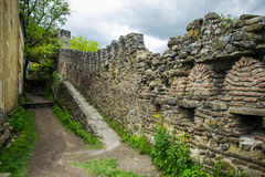 Inside fortress wall royalty free stock photos