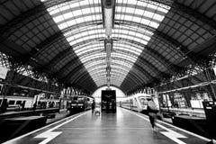 Inside Frankfurt main rail station Royalty Free Stock Photo