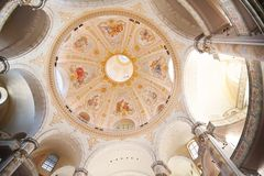 The inside of Frauenkirche. In Dresden - Germany Royalty Free Stock Images