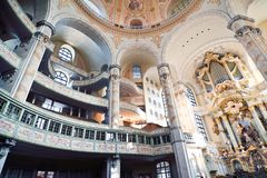 The inside of Frauenkirche. In Dresden - Germany Stock Photography