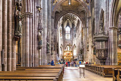 Inside the Freiburg Minster Royalty Free Stock Photography