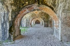 Free Inside Ft Pickens Royalty Free Stock Photos - 129684398