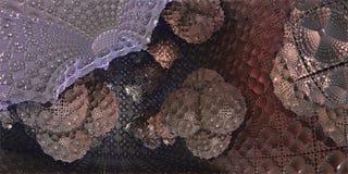 Inside the futuristic sci-fi Cube with organic blobs, 3D illustr Stock Image