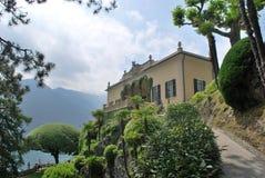 Path to the Loggia. Inside the garden of Villa del Balbianello - Tremezzina, Como, Lombardy, Italy royalty free stock image