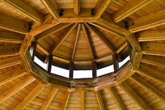 Inside Gazebo Roof Stock Photography