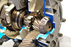 Inside gearbox. Stock Image