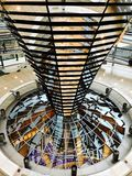 Inside of the German Reichstag, parliament Stock Images