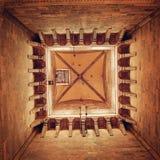 Inside Giotto dzwonkowy wierza rocznika skutek Florence katedralny Obrazy Royalty Free