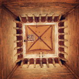 Inside of Giotto's bell Tower vintage effect. Florence Cathedral. Royalty Free Stock Images