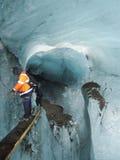 Inside glacier Stock Image