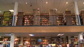 Inside a good bookstore (3 of 3) stock footage