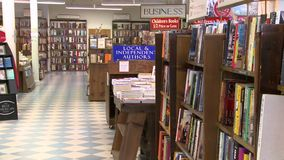 Inside a good bookstore (1 of 3) stock footage