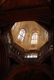 Inside of the gothic cathedral in Barcelona Stock Photos