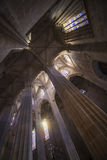 Inside of the gothic cathedral, Batalha, Portugal Stock Images