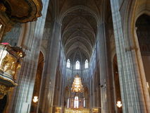 Inside Gothic Church in Uppsala Stock Image