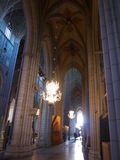 Inside Gothic Church in Uppsala Royalty Free Stock Photography
