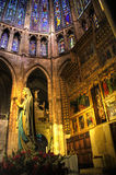 Inside gothic Leon cathedral stock photography