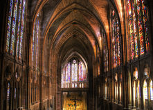 Inside gothic Leon cathedral Royalty Free Stock Photography