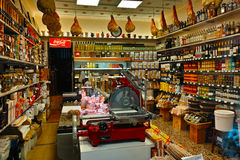 Inside gourmet food store Royalty Free Stock Photography