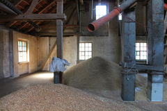 Inside the grain granary. Czech Republic royalty free stock images