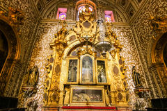 Inside Granada Cathedral. Rich decoration in cathedral at Granada, Spain Stock Images