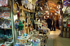 Inside in the Grand Bazaar, Istanbul Royalty Free Stock Photos