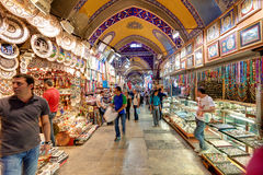 Inside the Grand Bazaar in Istanbul, Turkey Royalty Free Stock Image