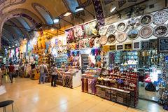 Inside the Grand Bazaar in Istanbul, Turkey Stock Image