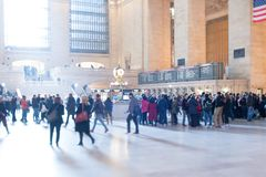 Inside grand Central station stock image