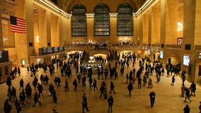Inside Grand Central Terminal in New York City. NEW YORK, NEW YORK - FEBRUARY 17 stock footage