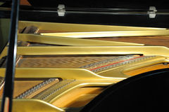 Inside grand piano Stock Images