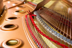 Inside of a grand piano Stock Photo