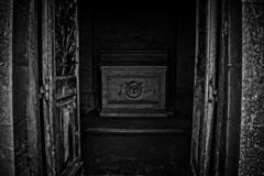 The Grave is Open stock images